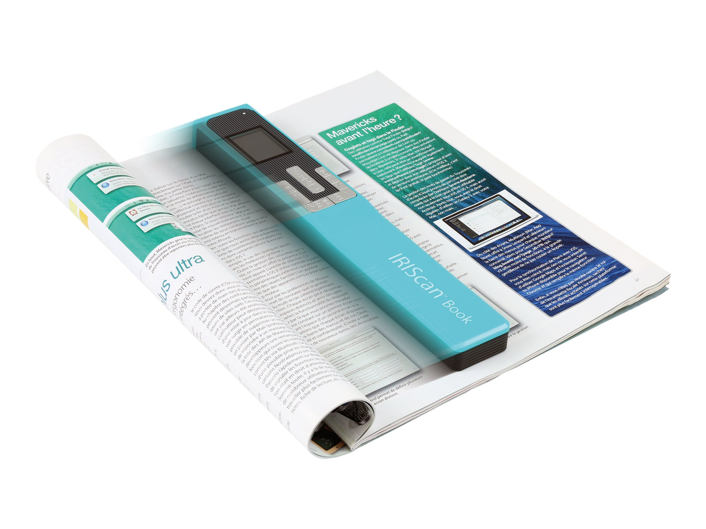 IRIS IRIScan Book 5 - scanner de documents A4 - portable -  1200 ppp x 1200 ppp - turquoise