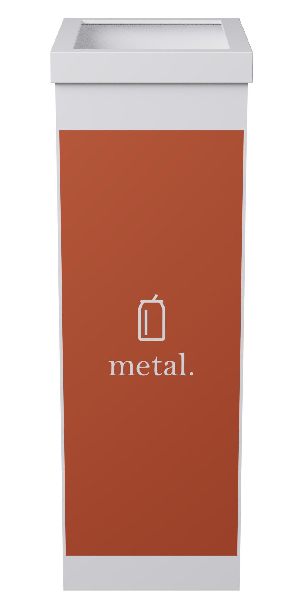 Corbeille de tri sélectif pour le métal