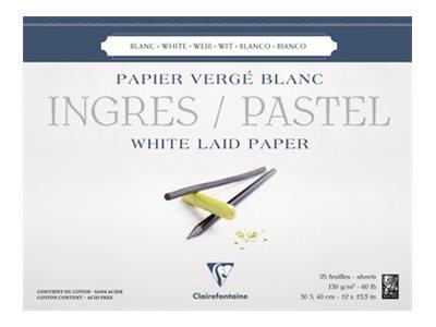 Clairefontaine Ingres Pastel - Bloc de papier dessin - 25 feuilles 30 x 40 cm - 130 g/m²