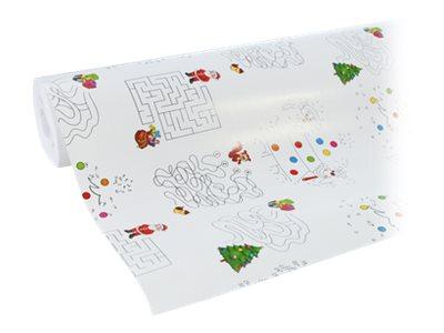 Clairefontaine Excellia - Papier cadeau - 70 cm x 50 m - 80 g/m² - motif jeux Noël