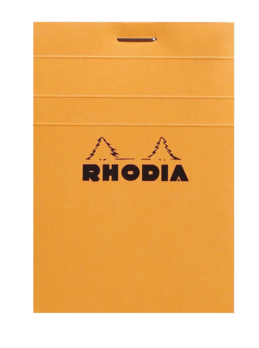 Rhodia - Bloc notes - 7,4 x 10,5 cm - 80 pages - petits carreaux - 80g