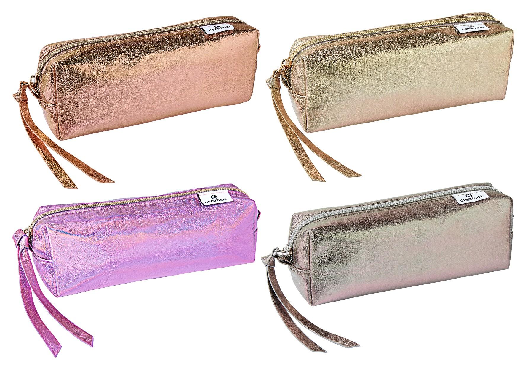 Trousse rectangulaire Colors Lady - 1 compartiment - 4 coloris disponibles - Oberthur