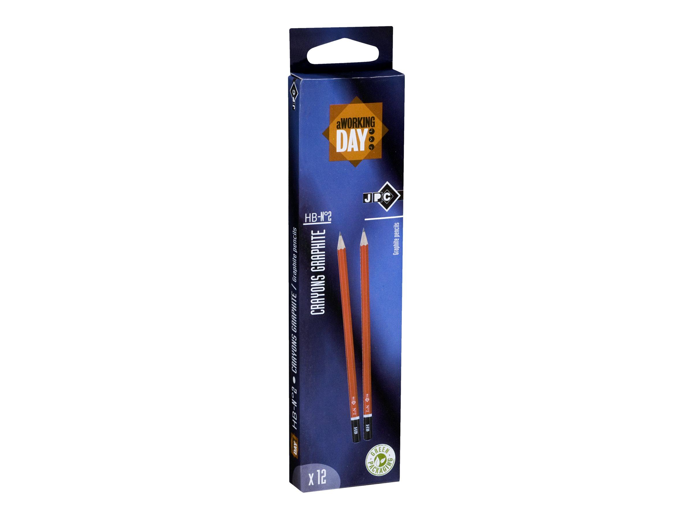 Wonday - Pack de 12 crayons à papier - HB STANDARD