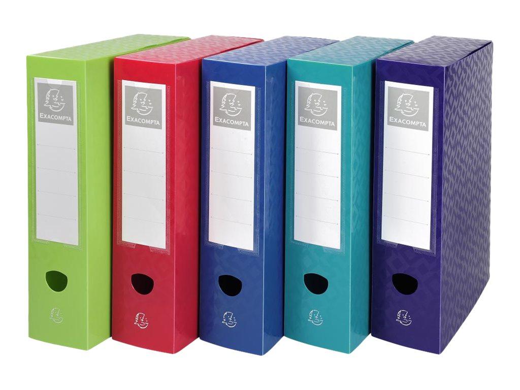 Exacompta OffiX - Boîte de classement bouton pression - dos 80 mm - disponible dans différentes couleurs