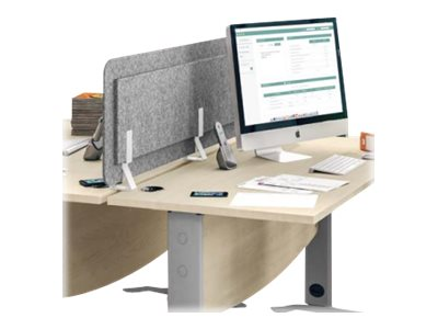 Écran de séparation acoustique pour bureau - L120 x H43 cm - gris chiné