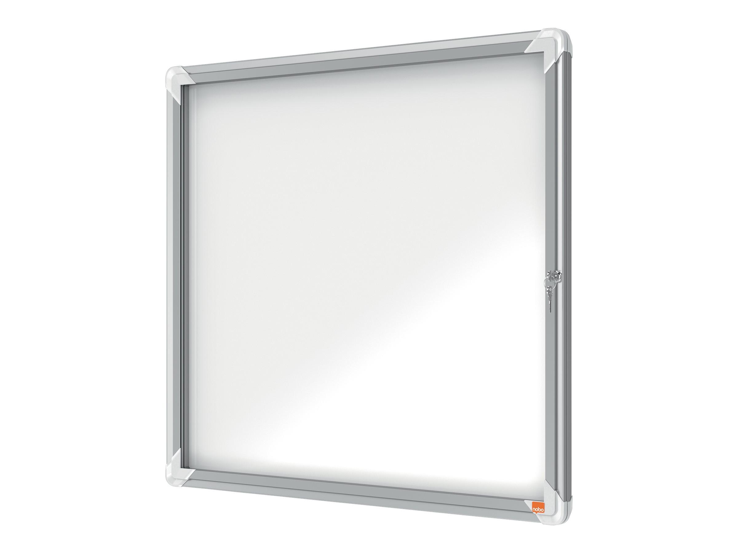 Nobo - Vitrine extérieure 6 A4 (709 x 668 mm) - cadre aluminium fond métal