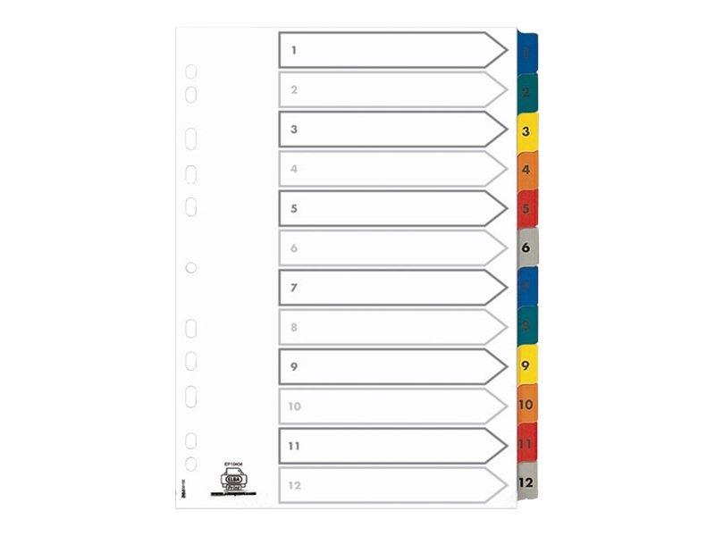 ELBA StrongLine - Intercalaire 12 positions numériques 1 à 12 - A4 - carte blanche