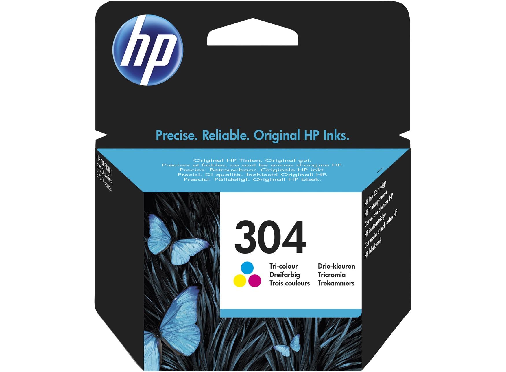 HP 304 - cyan, magenta, jaune - cartouche d'encre originale