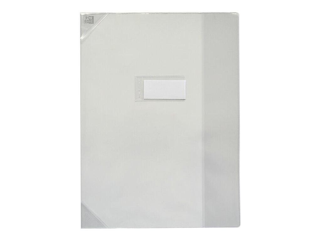Oxford Strong Line - Protège cahier sans rabat - 24 x 32 cm - incolore translucide