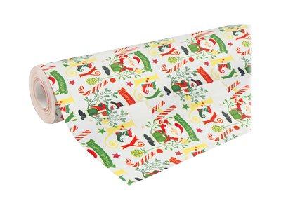 Clairefontaine Alliance - Papier cadeau - 70 cm x 50 m - 60 g/m² - motif sucre d'orge Noël