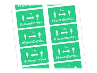 Avery - 20 Badges adhésifs rectangulaires - distanciation sociale - verts