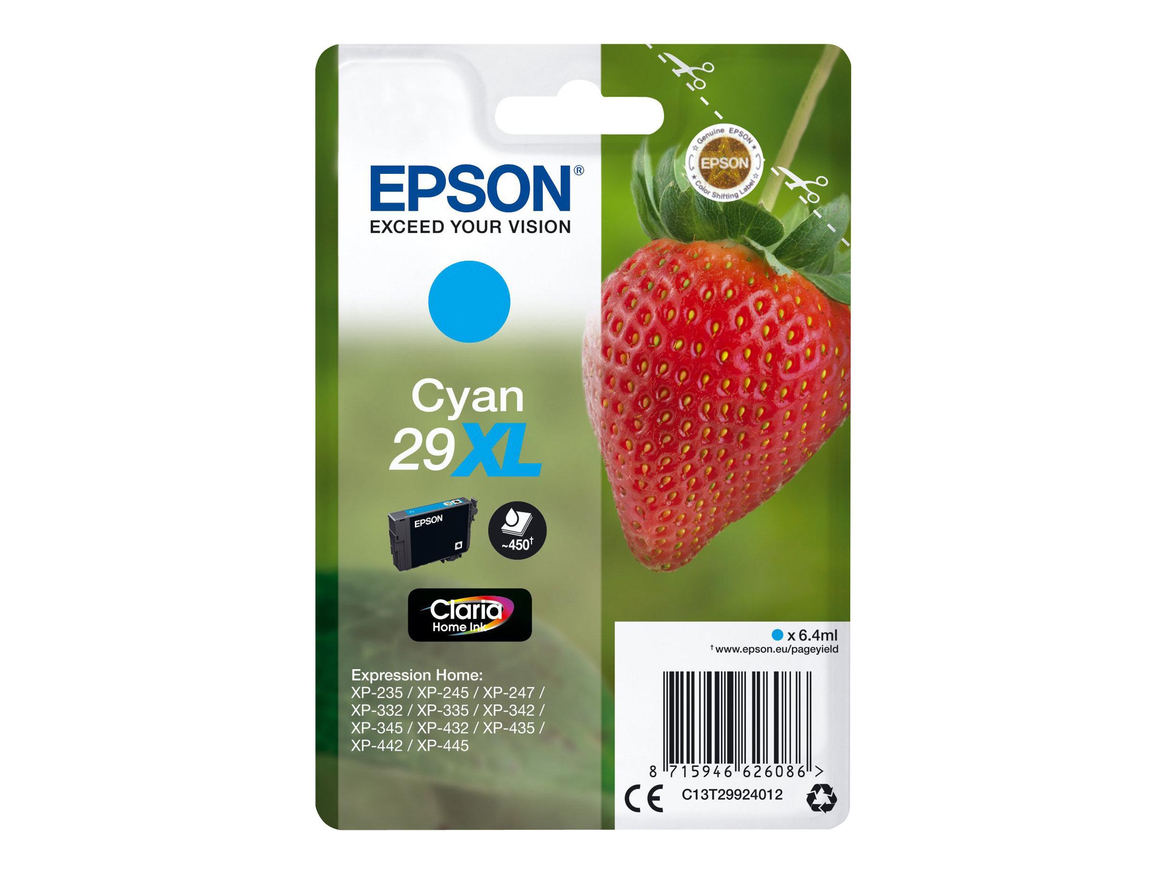 Epson 29XL Fraise - cyan - cartouche d'encre originale