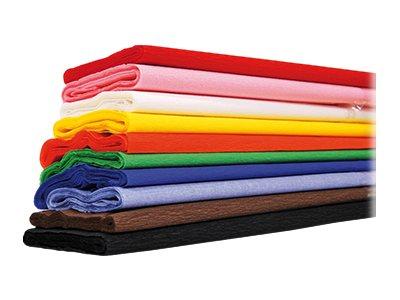 Maildor - Papier crépon - 10 feuilles - couleurs assorties