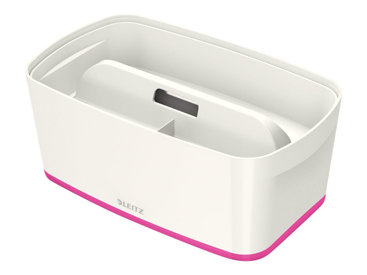 Leitz MyBox - Boîte de rangement petit format - blanc/rose