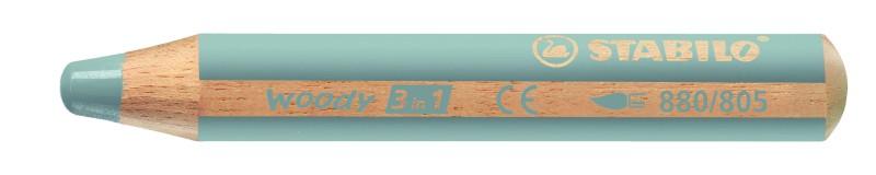 STABILO Woody 3 in 1 - Crayon de couleur pointe large - argent