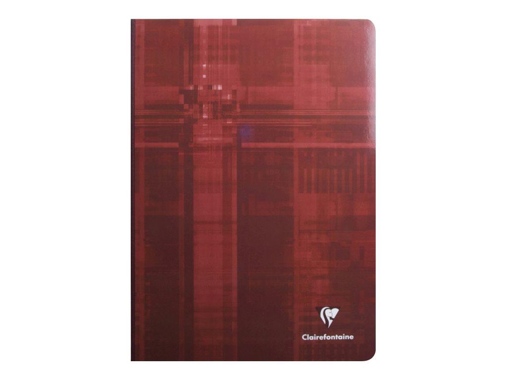 Clairefontaine - Cahier broché A4 (21x29,7 cm) - 288 pages - grands carreaux (Seyes) - disponible dans différentes couleurs