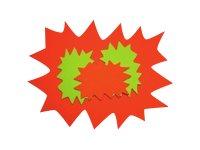 Apli Agipa - 10 éclatés fluo effaçables - jaune/orange - 48 x 64 cm