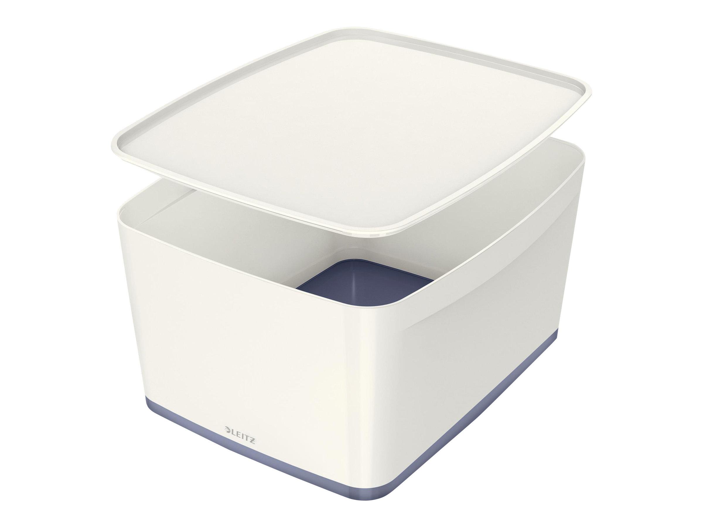 Leitz MyBox - Boîte de rangement format moyen - blanc/gris