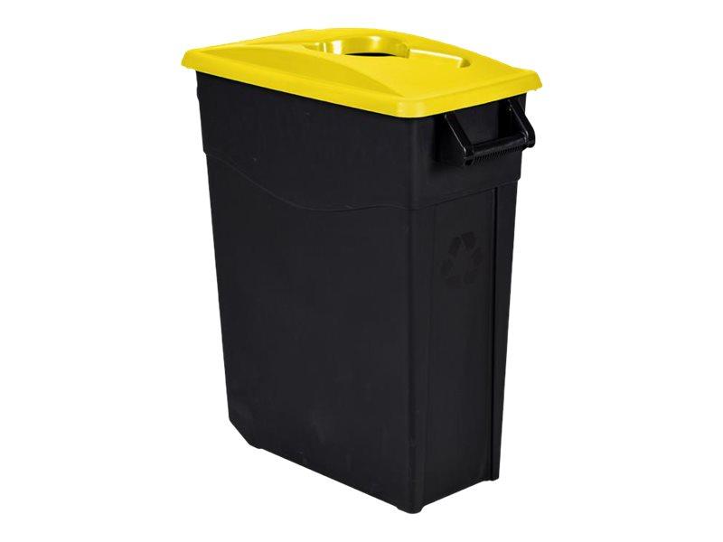Rossignol MOVATRI - Poubelle de tri mobile 65L - noir/jaune