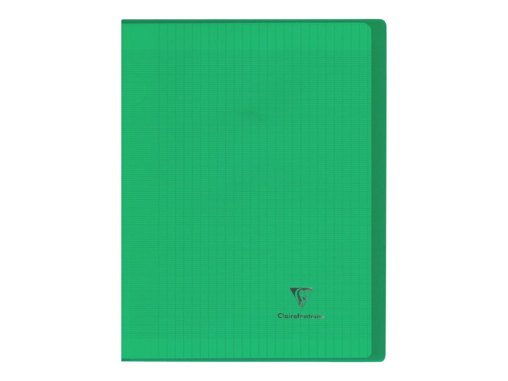 Clairefontaine Koverbook - Cahier polypro 24 x 32 cm - 96 pages - grands carreaux (Seyes) - vert