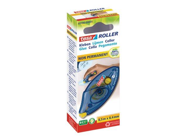 Tesa - Roller de colle - 8.4 mm x 8.5 m - jaune - repositionnable
