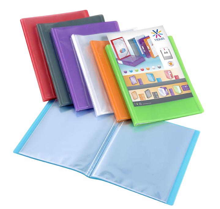 Viquel Propyglass - Porte vues personnalisable - 40 vues - A4 - disponible dans différentes couleurs