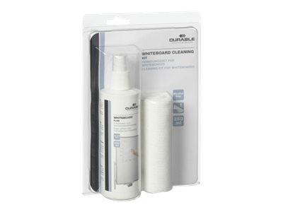 Durable Whiteboard cleaning - kit de nettoyage (vaporisateur 250 ml + 1 chiffon microfibre) pour tableau blanc