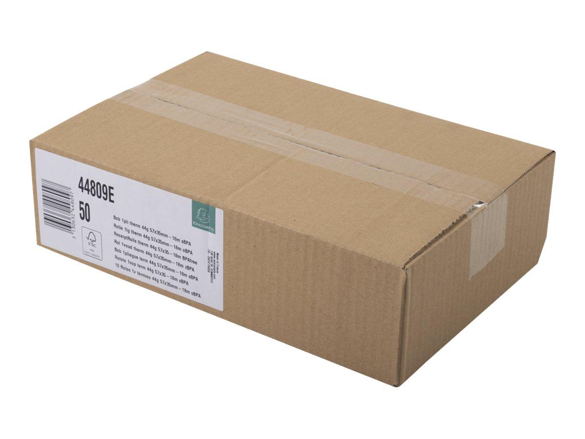 Exacompta - 10 Bobines pour TPE - papier thermique 57 x 35 x 12 mm - sans Bisphénol A