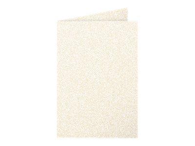 Pollen - 25 Cartes pliées - 110 x 155 mm - 210 g/m² - ivoire irisé