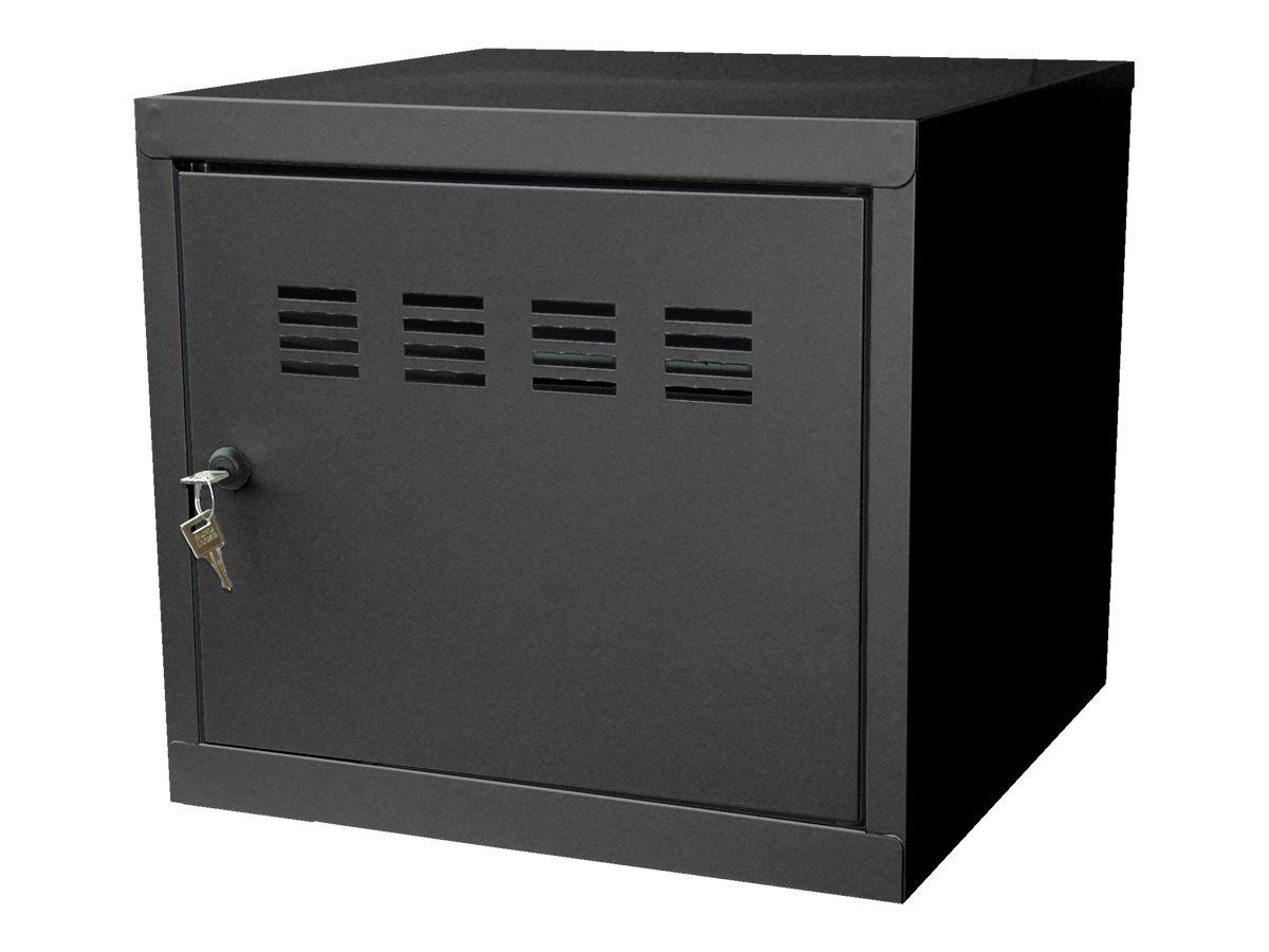 Casier cube / Vestiaire - 36 x 40 x 40 cm - noir