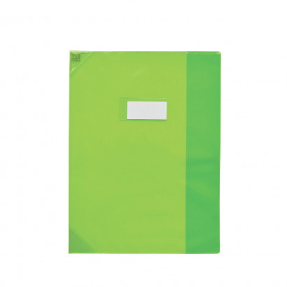 Oxford School Life - Protège cahier - 17 x 22 cm - vert translucide