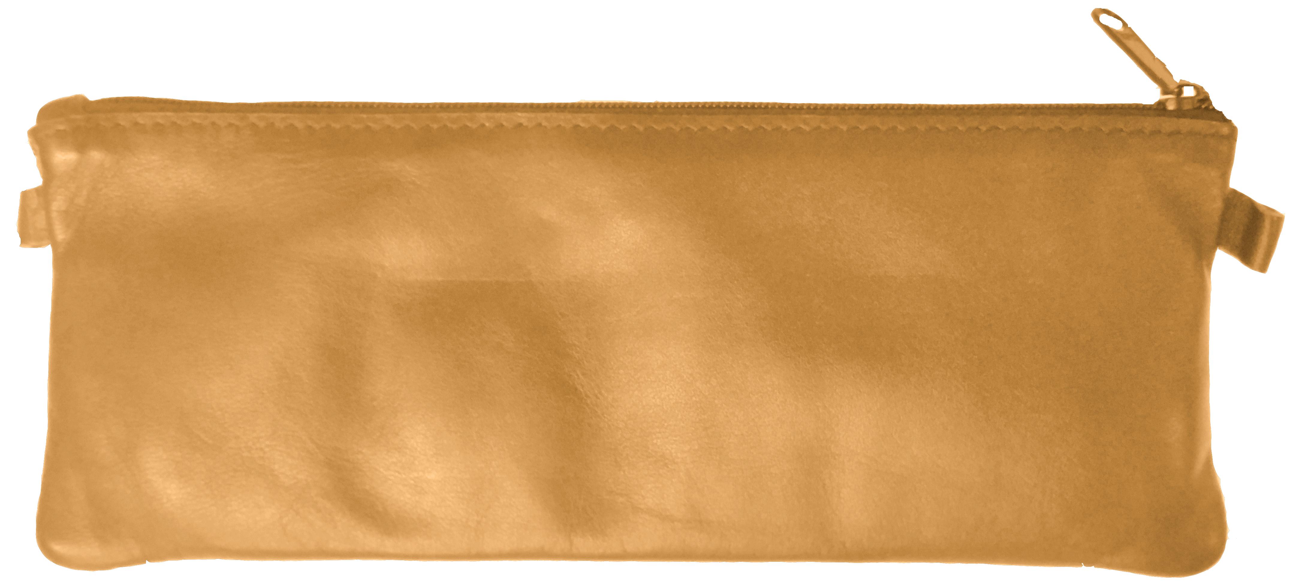 Trousse Merinos GM plate - 1 compartiment - cuir de mouton havane - Quo Vadis