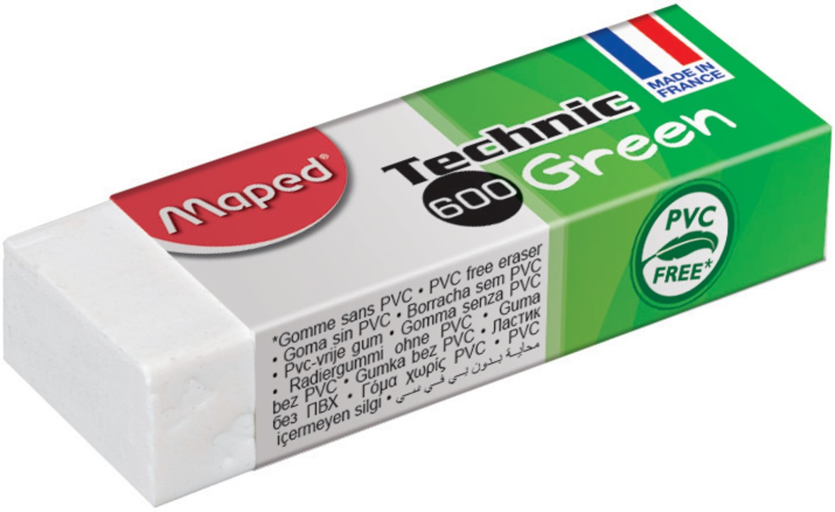 Maped - Gomme Technic 600 Green avec fourreau