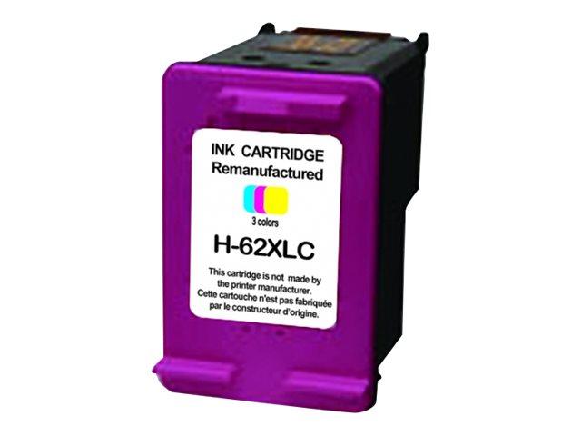 HP 62XL - remanufacturé UPrint H.62XLC - cyan, magenta, jaune - cartouche d'encre Premium