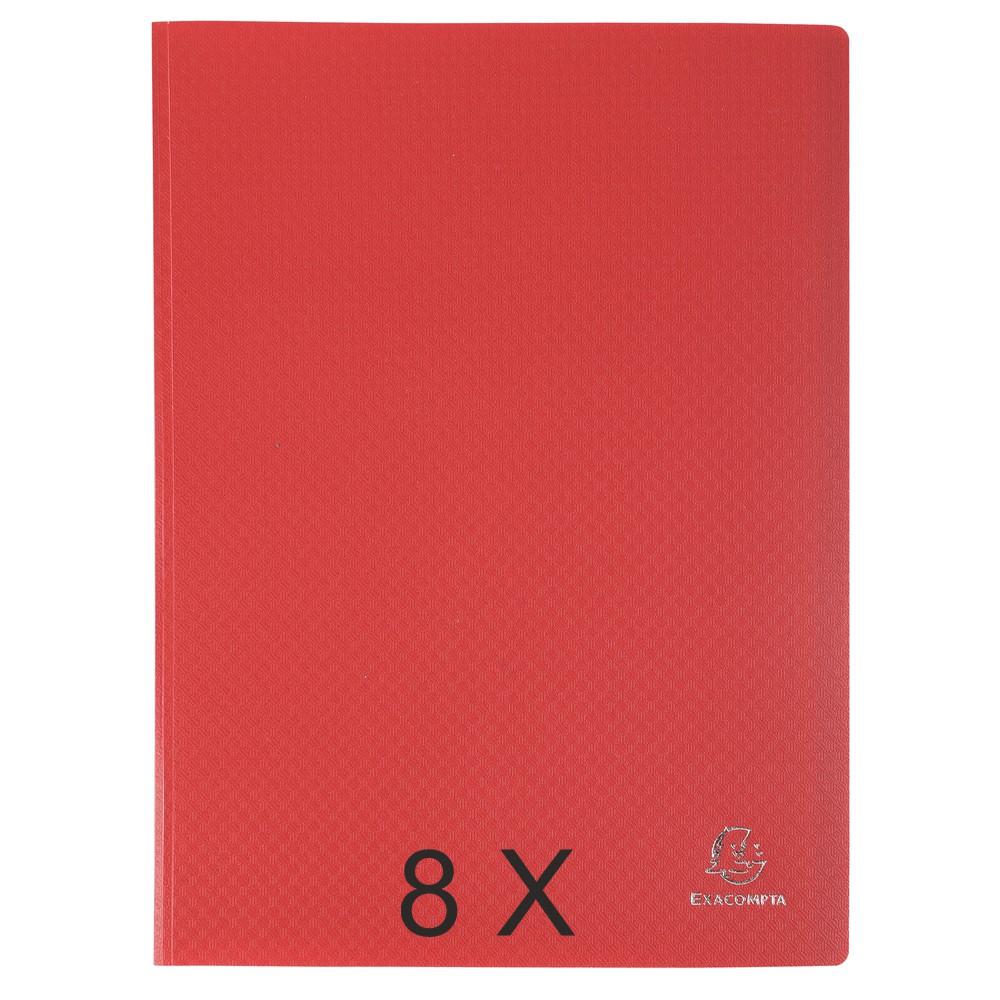 Exacompta Opak - 8 Porte vues - 200 vues - A4 - rouge