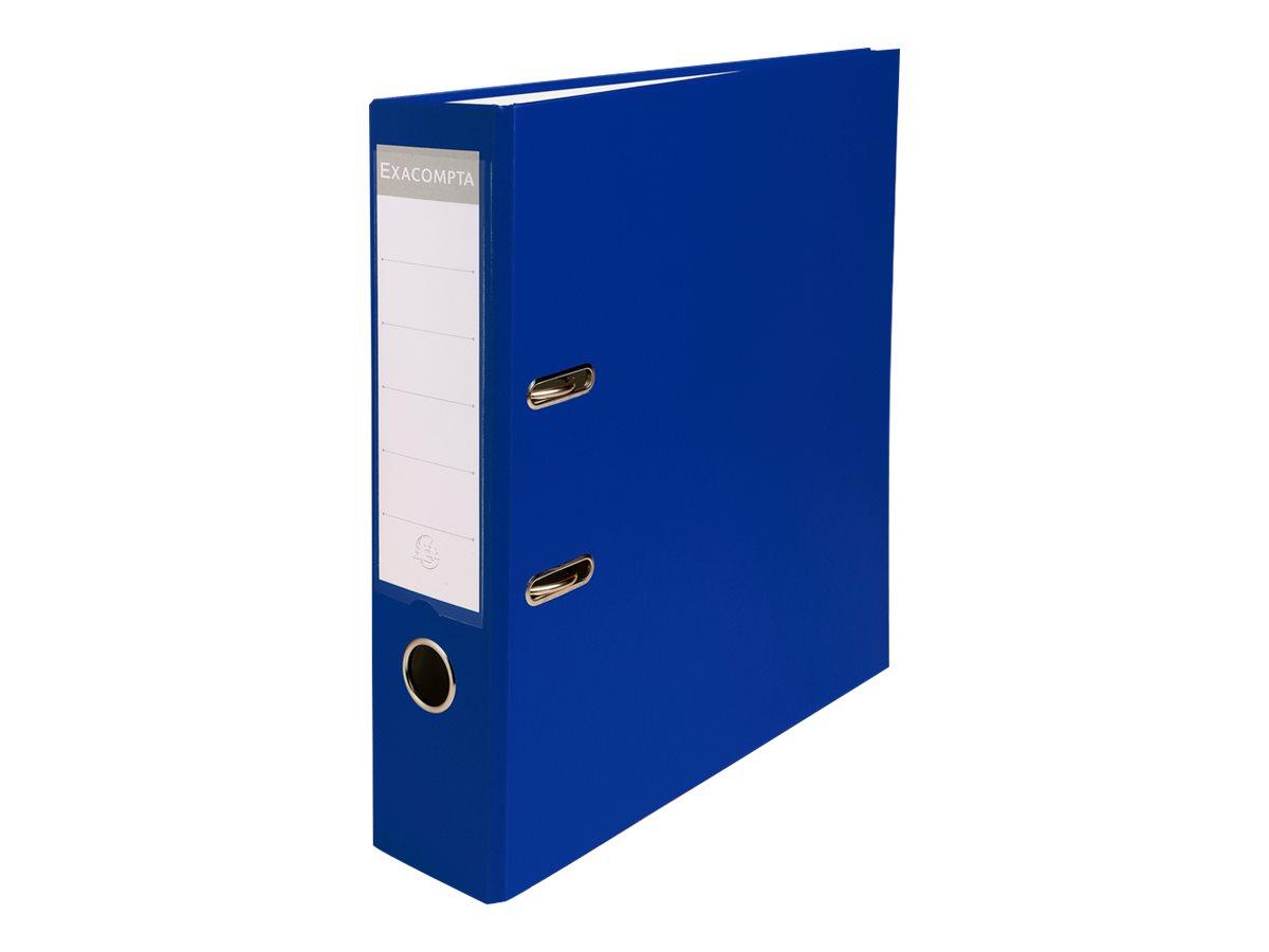 Exacompta - Classeur à levier - Dos 80 mm - A4 - pour 600 feuilles - bleu