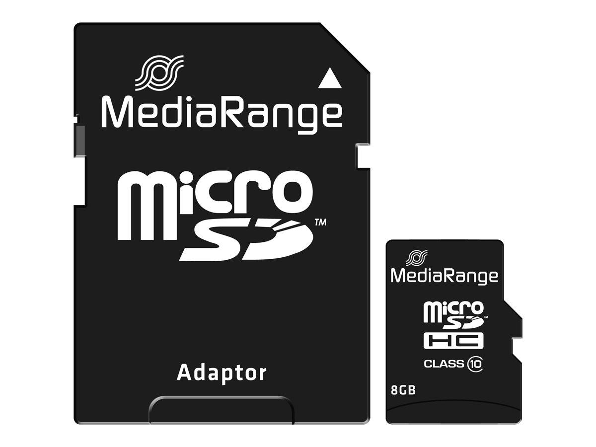 MediaRange - carte mémoire 8 Go - Class 10 - micro SDHC