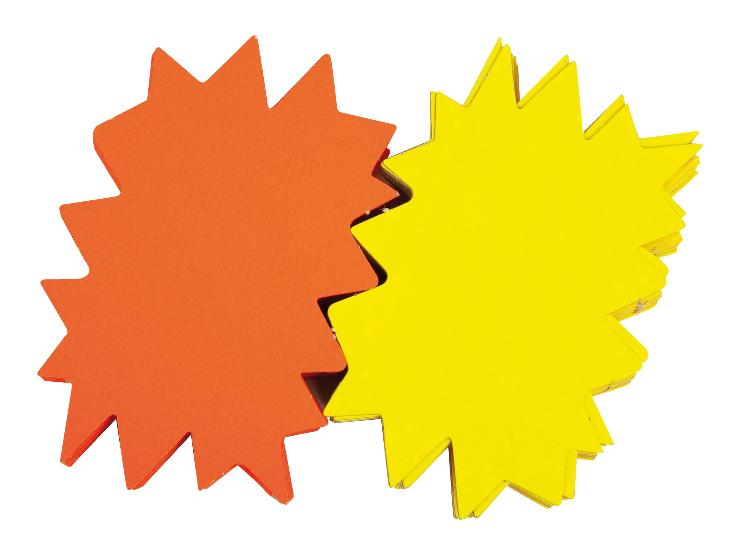 Apli Agipa - 10 éclatés fluo non effaçables - jaune/orange - 48 x 64 cm