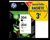 Pack de 2 cartouches d'encre HP 304