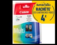 Pack de 2 cartouches d'encre CANON PG540 / CL541