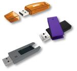 Clés USB à capuchon, coulissante ou pivotante